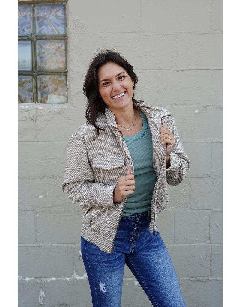 Wellmade Inc Collar Jacket w/Zipper Pockets