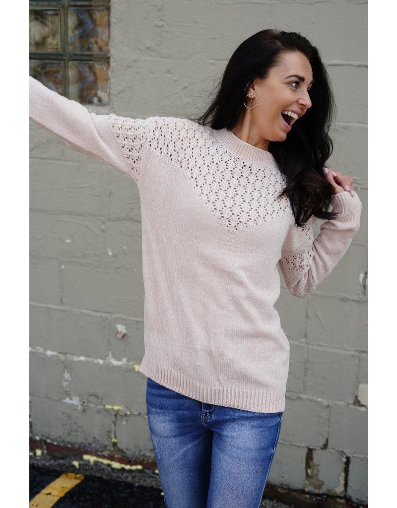 Wellmade Inc Knit Sweater Top
