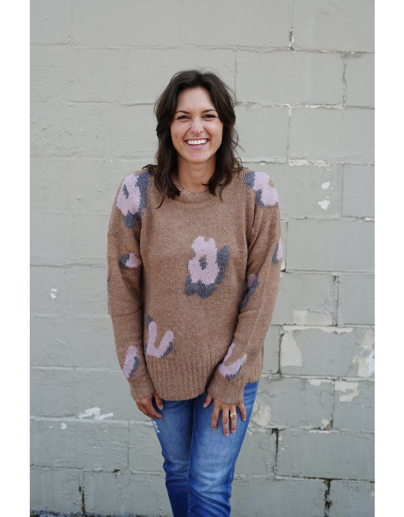 Handmade Floral Sweater