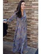 Deep Vneck Midi Dress