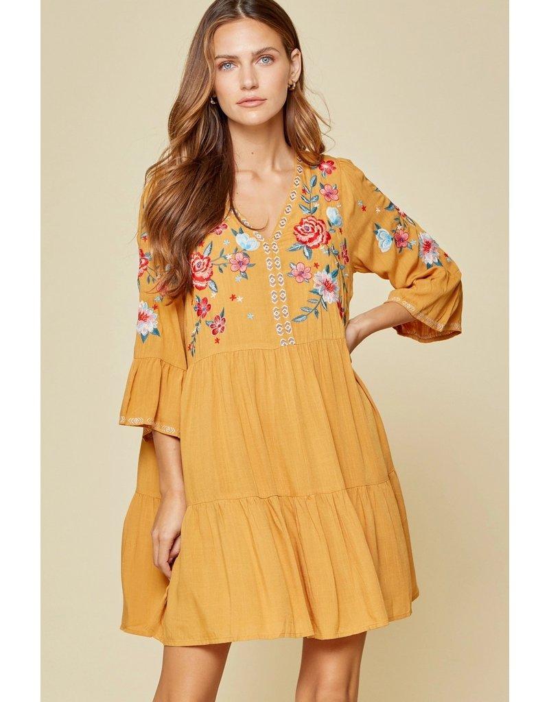 Savanna Jane Babydoll Embroidered Dress