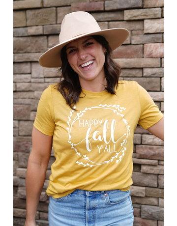 Sarah Goerke Designs Happy Fall Y'all Tee