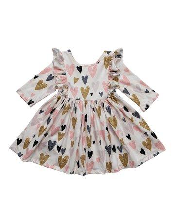 Mila & Rose I Heart You Ruffle Dress