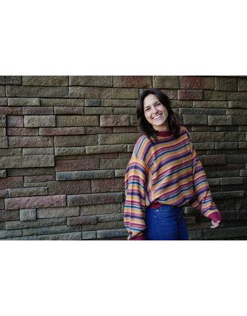 Easel Multi Stripe Knit Sweater