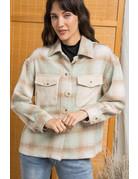 Wellmade Inc Plaid Jacket w/Patch Pocket