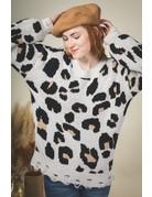 VeryJ Leopard Print Cozy Sweater