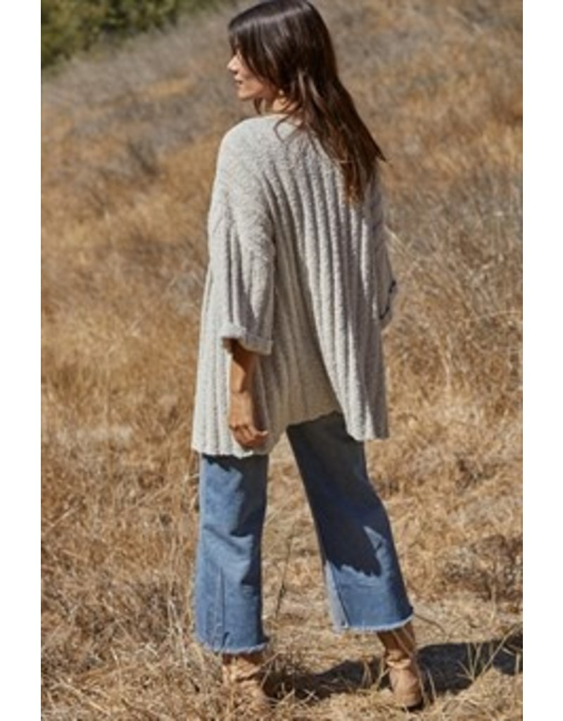 By Together Mixed Yarn Cardigan