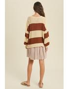 Color Block Striped Sweater