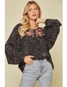 Savanna Jane Shimmer Embroidered Blouse