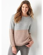 Charlie Paige Colorblock Pullover Sweater