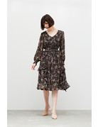 Grade & Gather Printed Ruffle Midi Dress