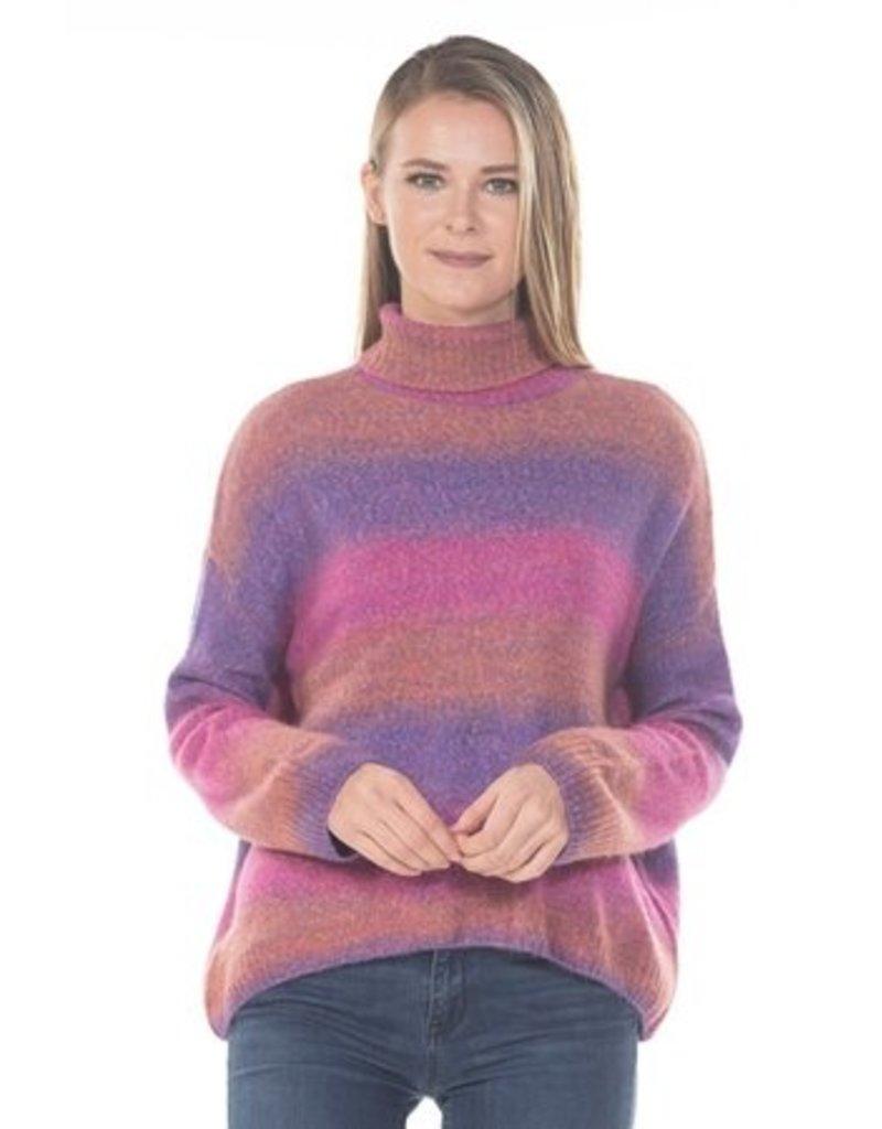 Rain & Rose Ombre Hi-low Sweater