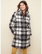 Plaid Faux Wool Coat