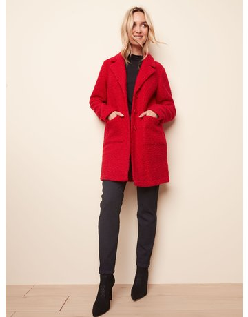Solid Boucle Coat