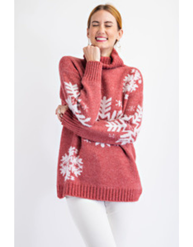 Easel LS Icy Textured Knit Top