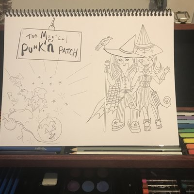 Sara Lieble The Magical Punk'n Patch - Coloring Book