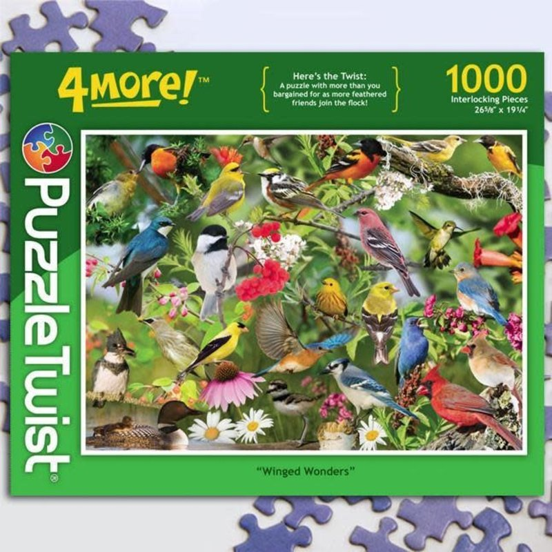 Puzzle Twist Winged Wonders - 1,000 Piece Puzzle