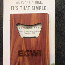 Woodchuck Wood Card Bottle Opener - ECWI