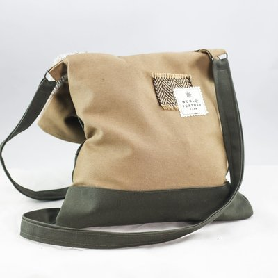 Wool n' Feather Farm Wool Crossbody Tote Bag