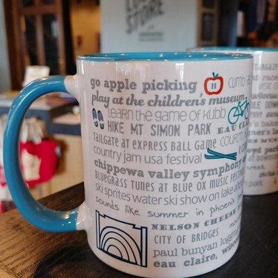 Tandem for Two Eau Claire Bucket List Mug