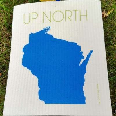 Volume One Swedish Dishcloth - Wisconsin Up North