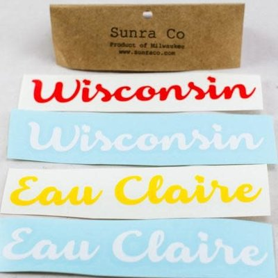 Sunra Company Vinyl Decal - Eau Claire Text
