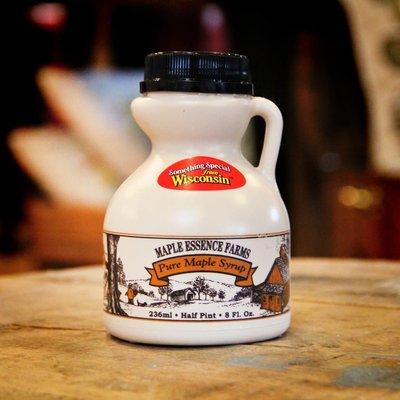 Trainor's Maple Essence Farms Wisconsin Pure Maple Syrup - Half Pint Plastic