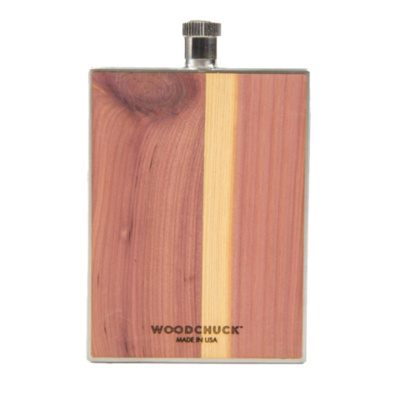 Woodchuck Wood Flask - Cedar (Plain)