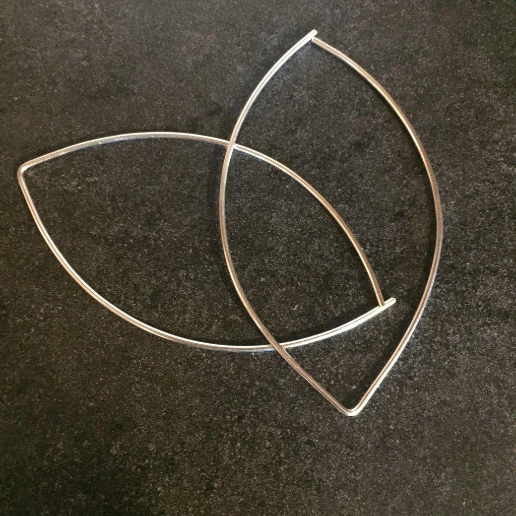 Adorn Jewelry Lemon Drop Hoops (Silver) Adorn