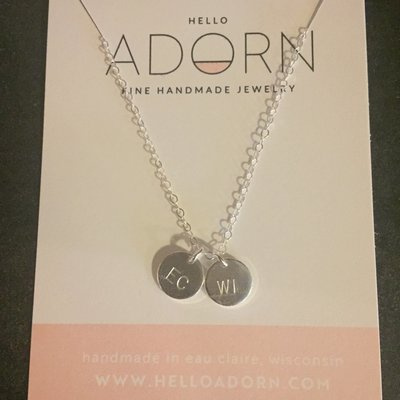 Adorn Jewelry EC/WI Discs Necklace - Silver