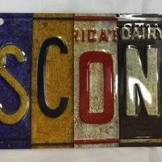 Volume One Wisconsin License Plate Keychain