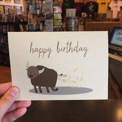 Lydia Tradewell Buffalo Bday Greeting Card