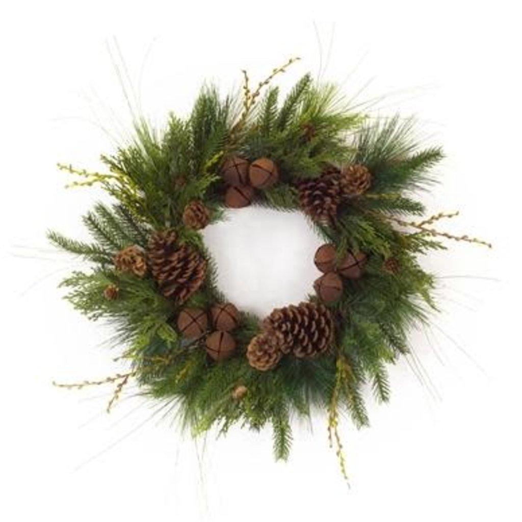 Volume One Holiday Wreath - Pine Cones & Bells