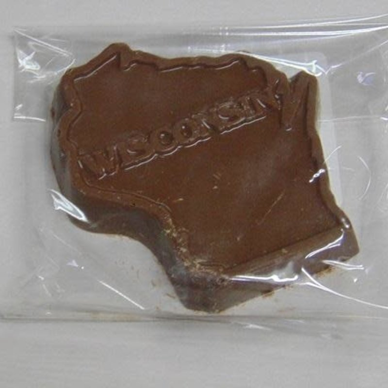 Baraboo Candy Company Solid Chocolate - Wisconsin Shape