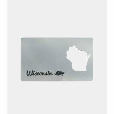 Zootility Metal Wisconsin Bottle Opener (Card / Wallet)