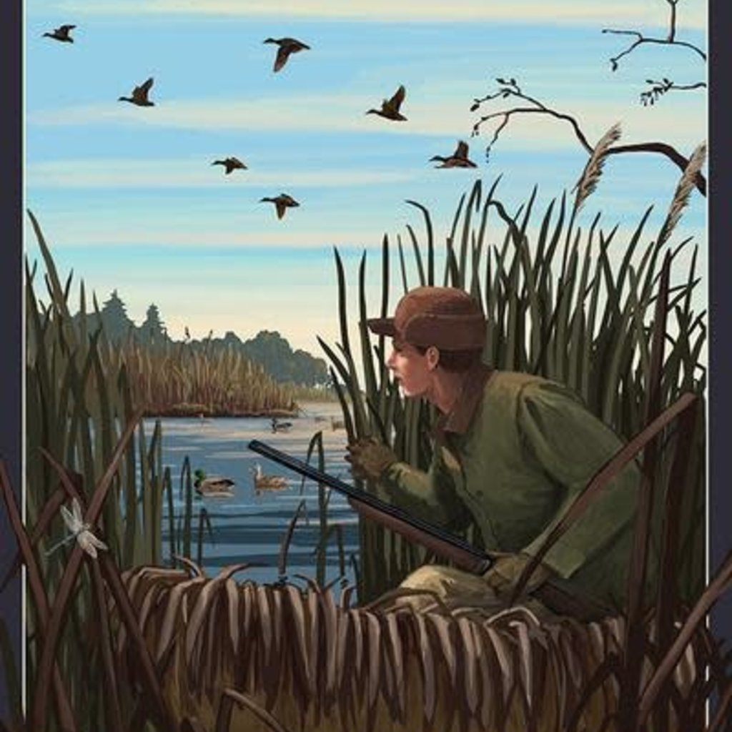 Volume One Wisconsin Hunter & Lake Print (12x18)