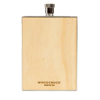 Woodchuck Wood Flask - Birch (Plain)