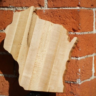 "Riverside Creations and Woodworking 9"" Wisconsin Cheese & Cutting Board"