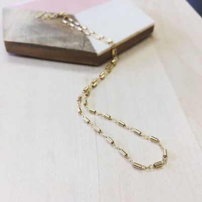 Adorn Jewelry Barrel Choker - Gold