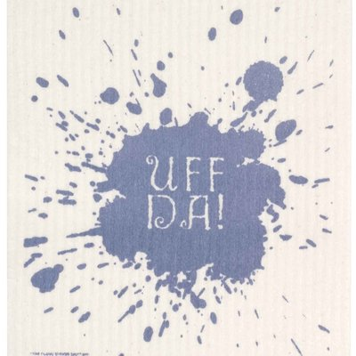 Volume One Swedish Dishcloth - Uff Da (Blue)