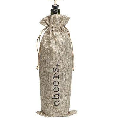 Volume One Cheers Wine Bottle Bag + Stopper (Set)