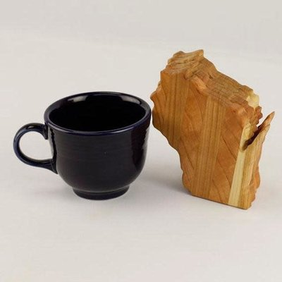 Volume One Wisconsin Wood Coaster Set - Maple (Light)