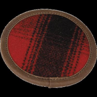 Stormy Kromer Wool Coaster Set of 4 (Red/Black Plaid)