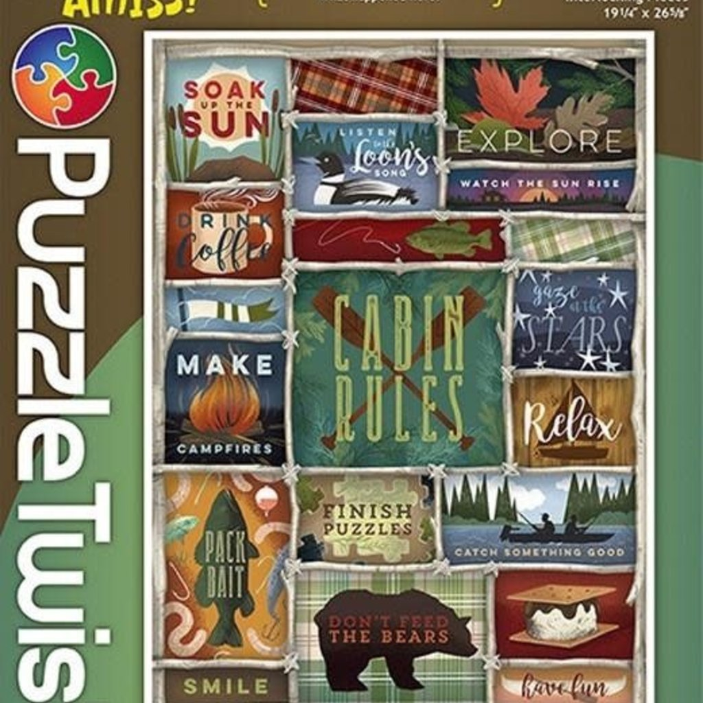 Puzzle Twist Cabin Rules Jigsaw Puzzle