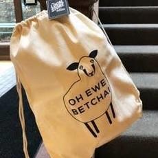 Volume One Drawstring Bag - Oh Ewe Betcha!