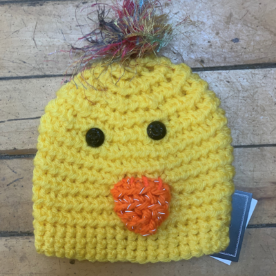 Cindy Knapmiller Knit Kids Hat - Baby Chick