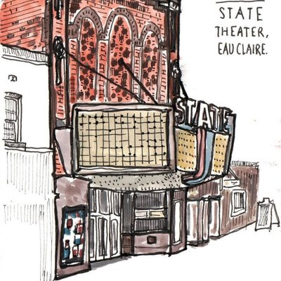 Sneaky Artist (Nishant Jain) Sneaky Art-Before the Closing State Theatre Print 11x14
