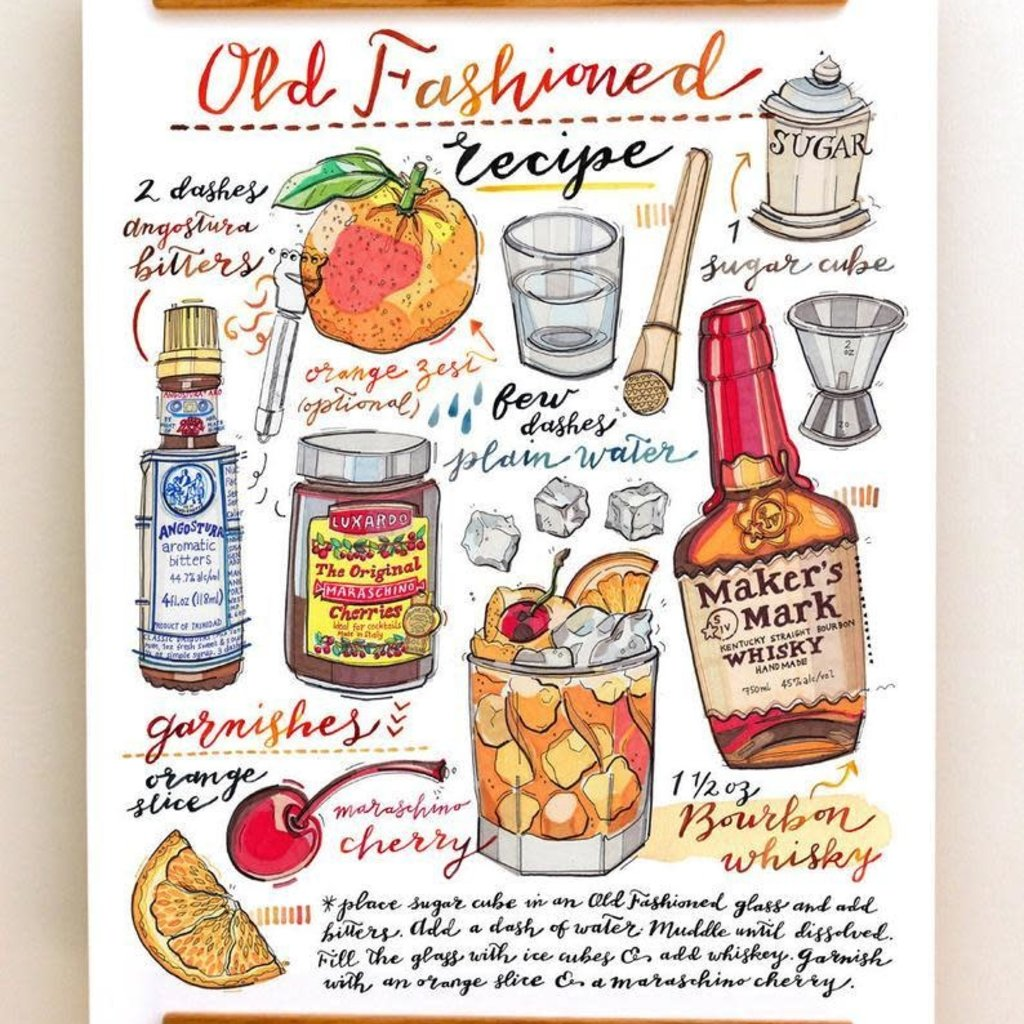 LouPaper Old Fashioned Print Vertical (11X14)
