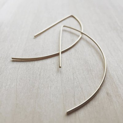 Adorn Jewelry Archery Hoops earring (Gold)