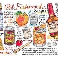LouPaper Old Fashioned Print Horizontal (8X10)